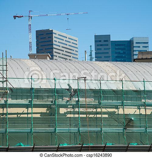 construction bâtiments, sous - csp16243890