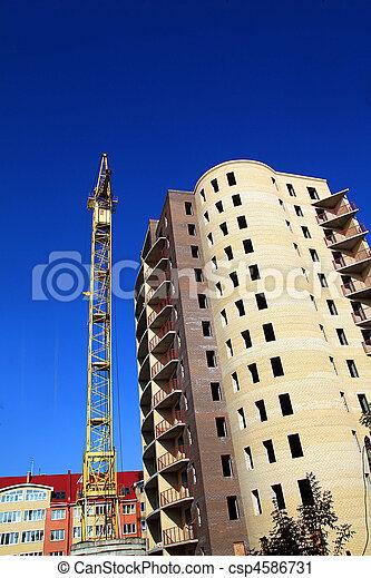 construction, nouveau, bâtiment - csp4586731