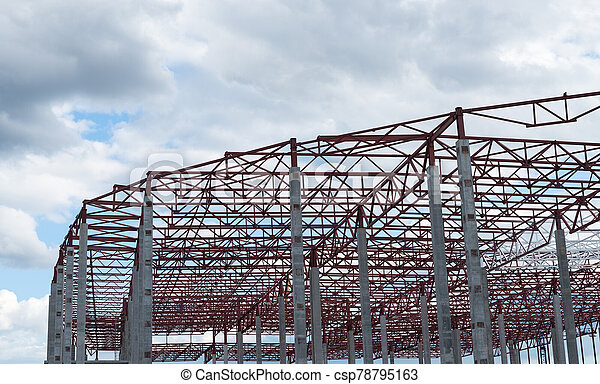 construction, site., bâtiment, cadre, nouveau - csp78795163