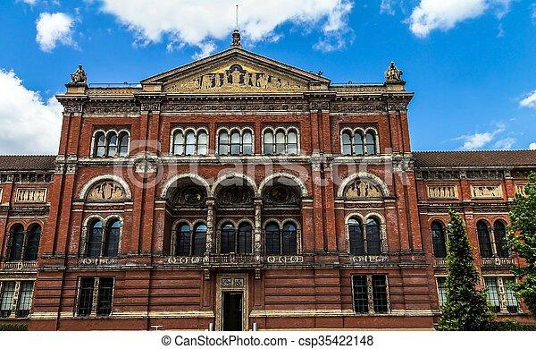 cour, musée, royaume-uni, london., v&a - csp35422148