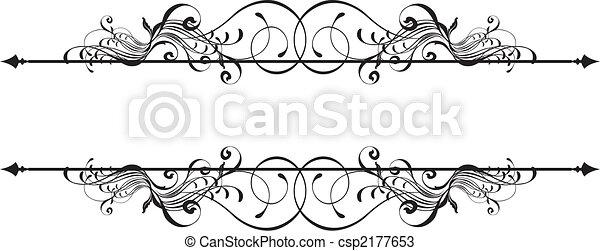 décoratif, bannière, beauté - csp2177653