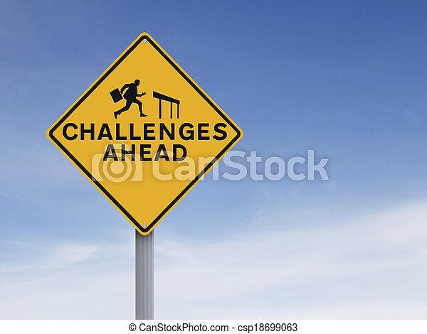 défis, devant - csp18699063