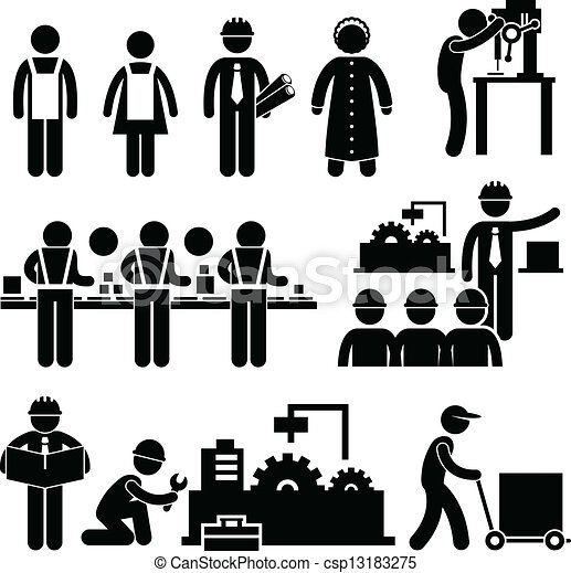 directeur, ouvrier, usine, fonctionnement - csp13183275