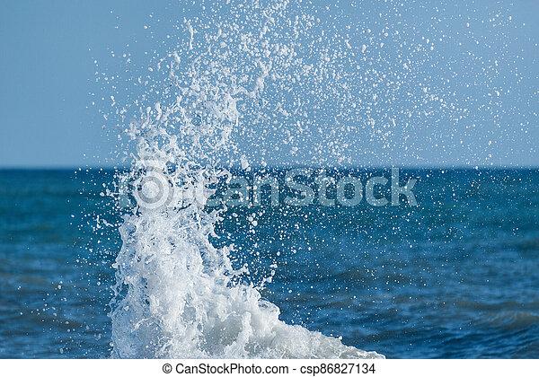 eau, day., mer, ensoleillé, vague - csp86827134