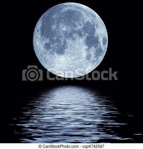 eau, entiers, sur, lune - csp4742597