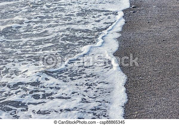 eau, mer, soir, vague, time. - csp88865345