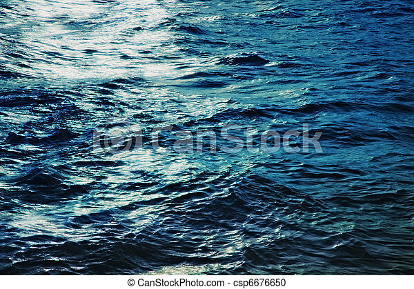 eau, mer, surface, nuit - csp6676650