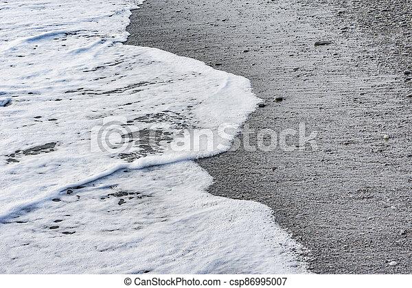 eau, time., soir, mer, vague - csp86995007