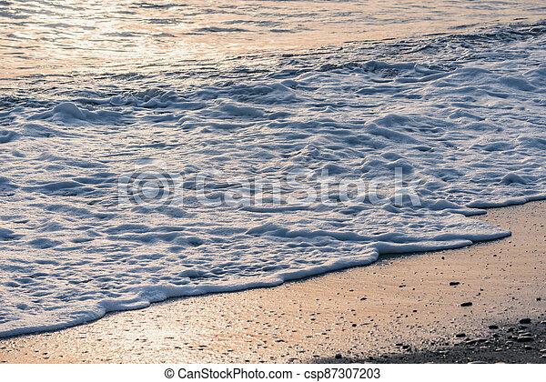 eau, time., vague, mer, soir - csp87307203