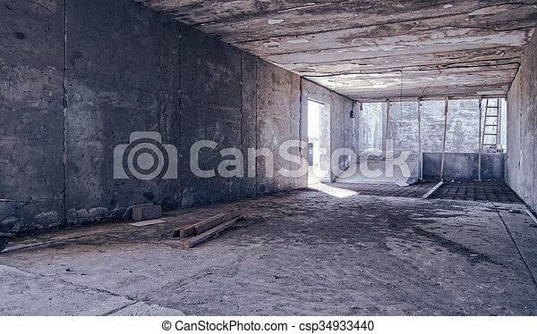 entrepôt, construction - csp34933440