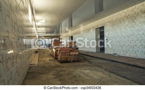 entrepôt, construction - csp34933436