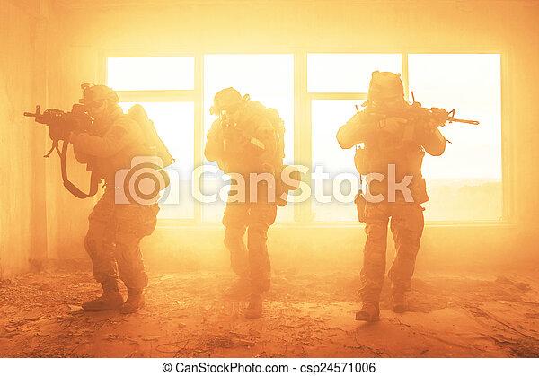 etats, gardes forestiers, uni, action, armée - csp24571006