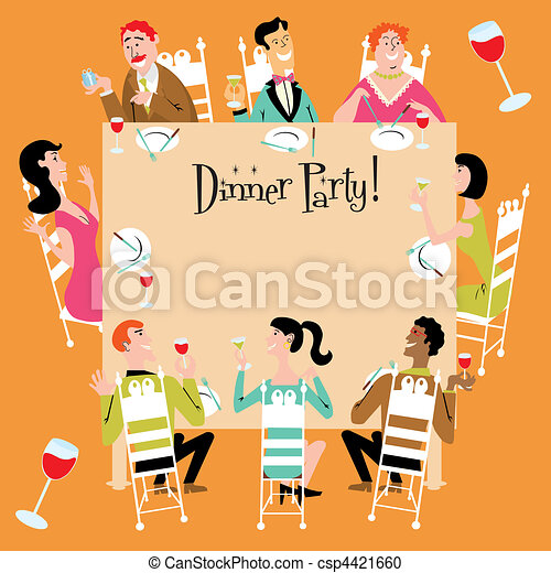 fête, dîner, invitation - csp4421660