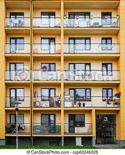 façade bâtiment, appartement, nouveau - csp60246028