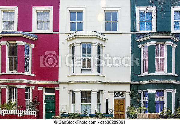 façade bâtiment, londres - csp36289861