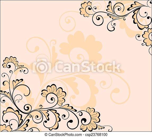 floral, résumé, fond - csp23768100