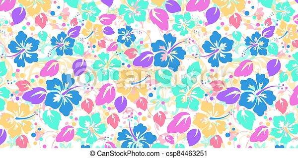 floral, résumé, fond - csp84463251