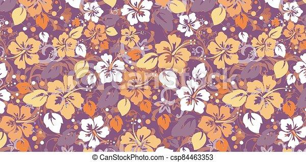 floral, résumé, fond - csp84463353
