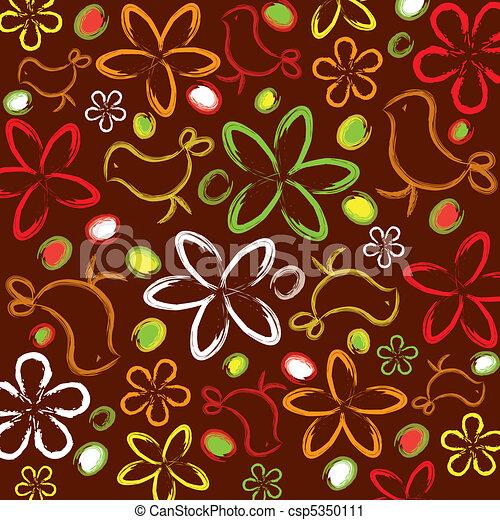floral, résumé, fond - csp5350111