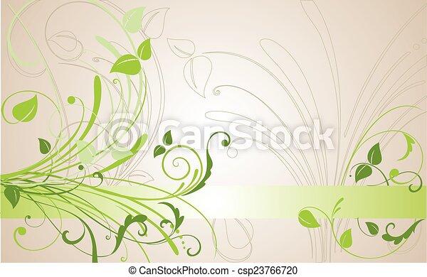floral, résumé, fond - csp23766720