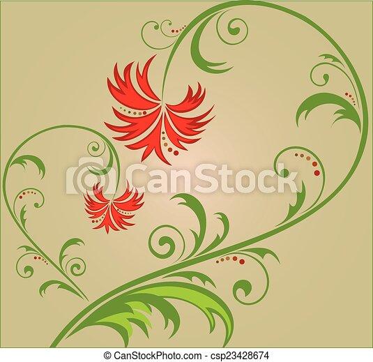 floral, résumé, fond - csp23428674