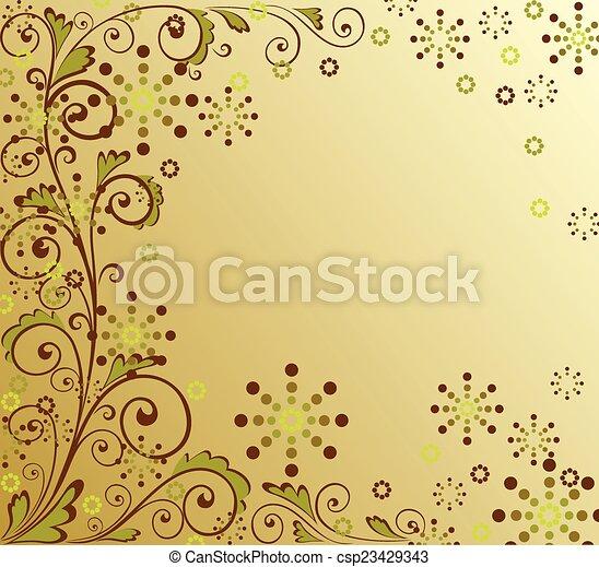 floral, résumé, fond - csp23429343