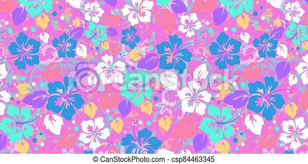 floral, résumé, fond - csp84463345