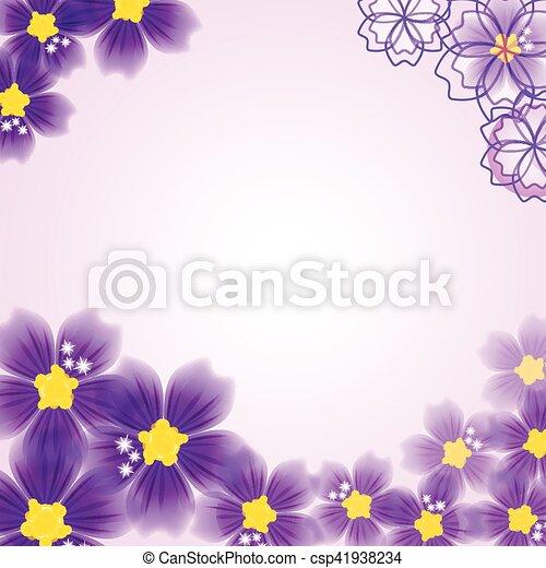floral, résumé, fond - csp41938234