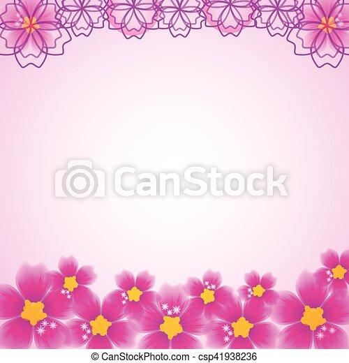 floral, résumé, fond - csp41938236