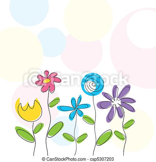 floral, résumé, fond - csp5307203