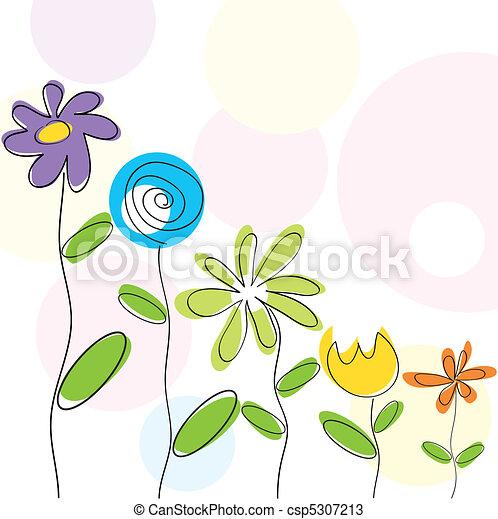 floral, résumé, fond - csp5307213