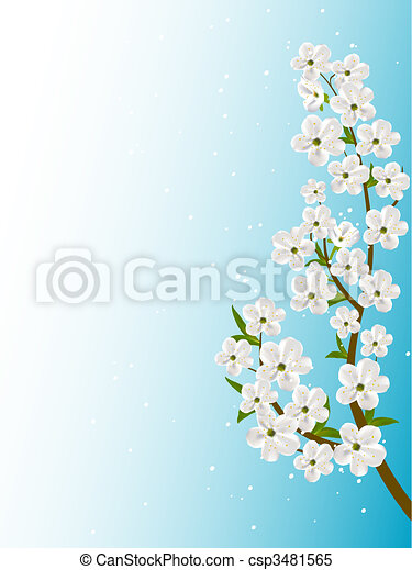 floral, résumé, vecteur, fond - csp3481565