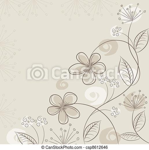 floral, résumé, vecteur, fond - csp8612646