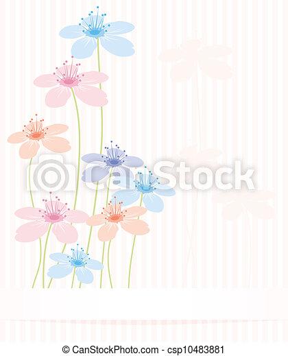 floral, résumé, vecteur, fond - csp10483881