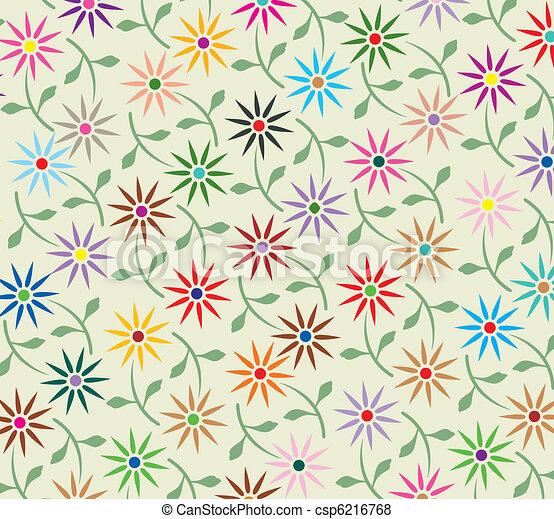 floral, résumé, vecteur, fond - csp6216768