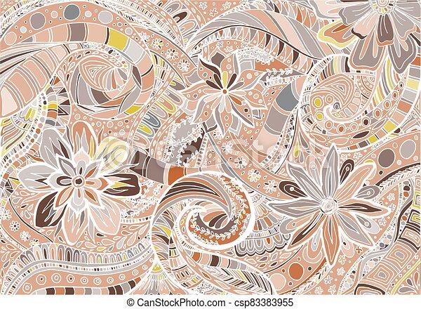 fond, résumé, floral - csp83383955