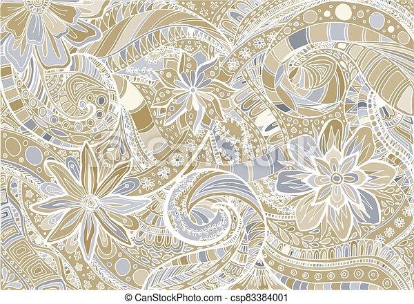 fond, résumé, floral - csp83384001