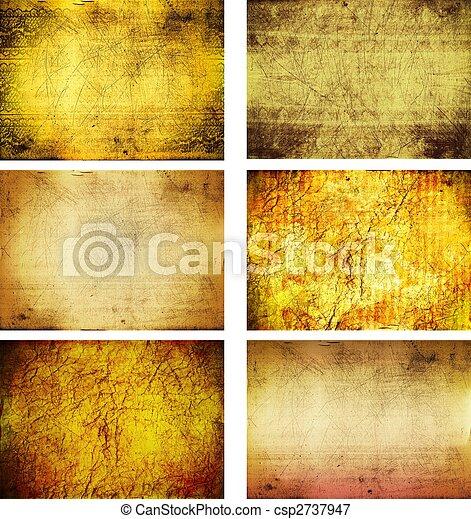 fond, textures, grunge, collection - csp2737947