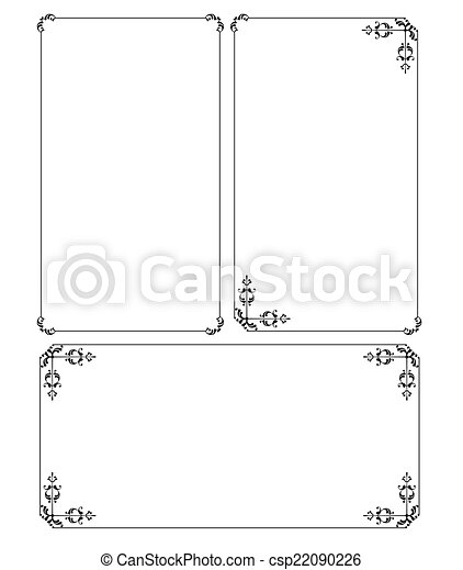 frontière, cadre, conception - csp22090226
