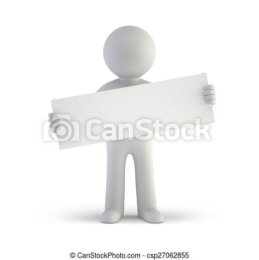 gens, -, planche, vide, petit, blanc, 3d - csp27062855