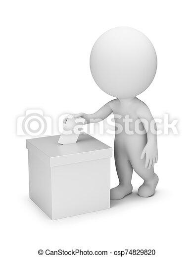 gens, vote, -, 3d, petit - csp74829820