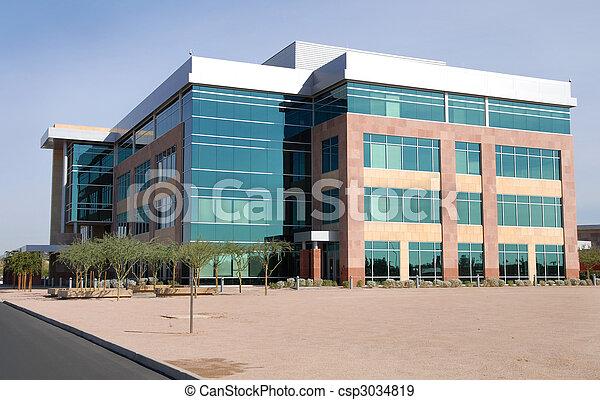grand bâtiment, moderne, bureau - csp3034819