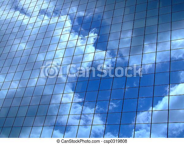 horizontal, ciel, reflet - csp0319808