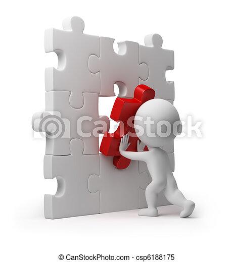 insertion, gens, puzzle, -, petit, 3d - csp6188175