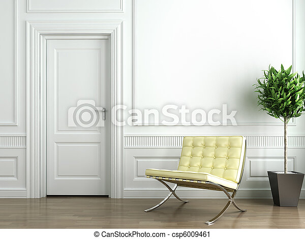 intérieur, blanc, classique - csp6009461