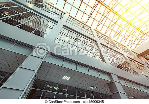 intérieur, bureau, bâtiment. - csp45909345