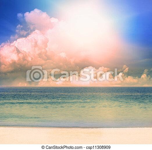 jour, lumière soleil, soir - csp11308909