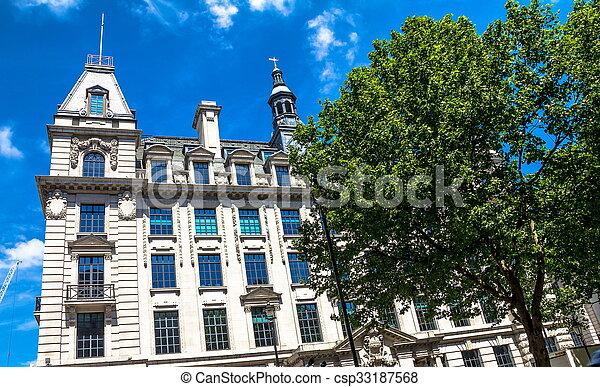londres, bâtiments, beau, temps, vieux, central, été, extérieur, jour - csp33187568
