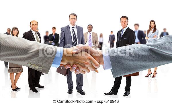 mains, affaires gens, secousse - csp7518946