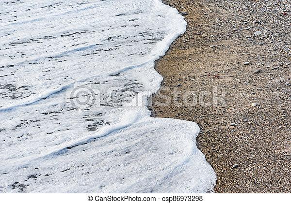 mer, vague, soir, eau, time. - csp86973298
